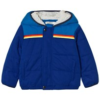 Billybandit Blue Colorblock Hooded Puffer Coat 829