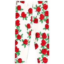 Mini Rodini Rose Leggings Off White White