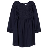 Chloé Navy Embroidered Crepe Dress 849