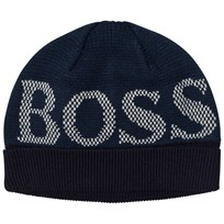 BOSS Navy Branded Beanie 849