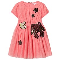 Little Marc Jacobs Pink Embroidered Tulle Dress 472