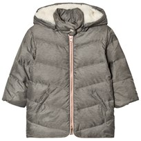 Carrément Beau Grey Hooded Puffer Coat A44