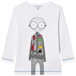 The Marc Jacobs White Mr Marc Racing Car Driver Print Tee