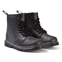 Dr. Martens Black/Silver Pebble Delaney Metallic Boots Silver