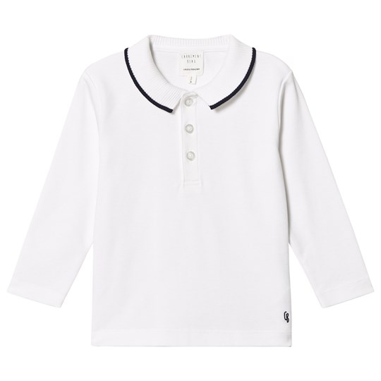 Carrément Beau White/Navy Smart Polo Shirt 10B
