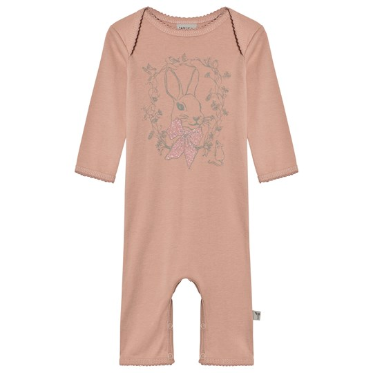 Wheat One-Piece Print Frill Misty Rose Misty Rose