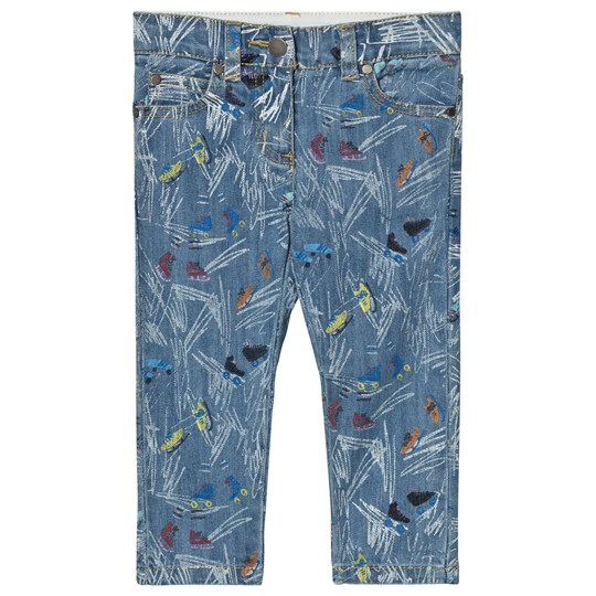 Stella McCartney Kids Scribble and Skates Lohan Jeans Blå 4263