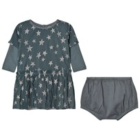 Stella McCartney Kids Mouse Tulle Silver Star Dress 3065