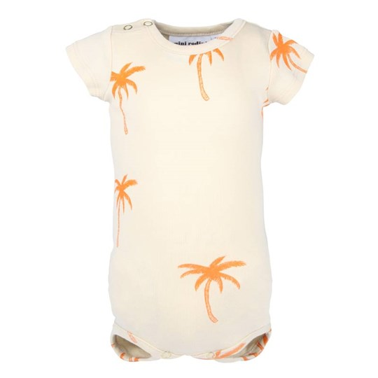 Mini Rodini Palm S/S Body Beige  Beige