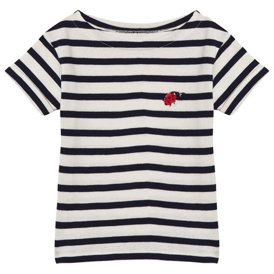 Maison Labiche Navy Ladybird Embroidered Tee CLASSIQUE