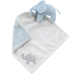 Image of Elephant Cuddle Blanket Elephant Light Blue (2743730609)