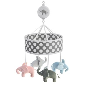 Image of Elephant Musical Mobile Elephant Grey (2882745207)
