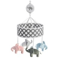 Elephant Musical Mobile Elephant Grey Black