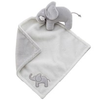Elephant Cuddle Blanket Elephant Grey Black