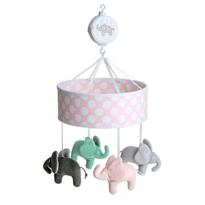 Image of Elephant Musical Mobile Elephant Pink (2884165371)
