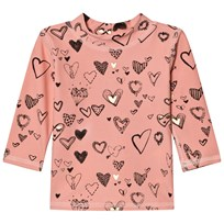 Soft Gallery Astin Swim Shirt Coral Almond Coral almond, AOP Heartart