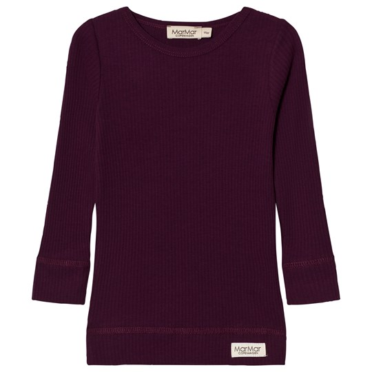 MarMar Copenhagen Plain Tee Ls Purple Night Purple Night