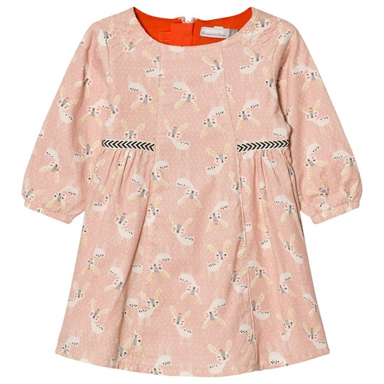 Catimini Pink Deer Print Dress 32