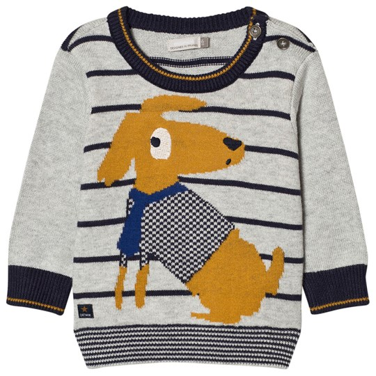 Catimini Dog and Stripe Knit Sweater 15