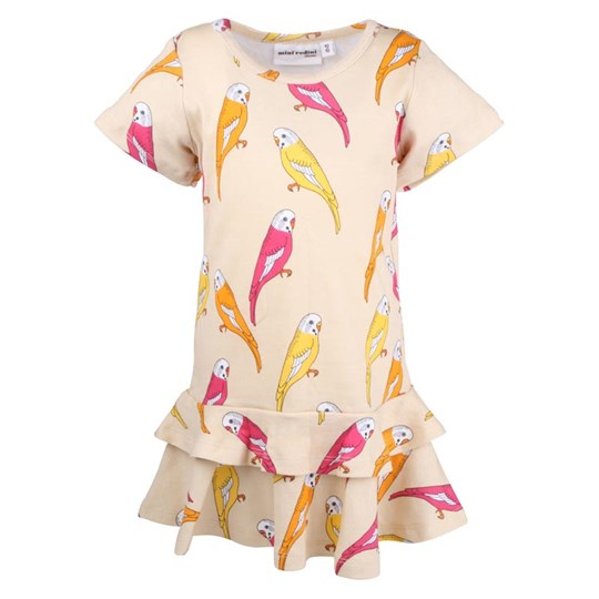 Mini Rodini Budgie Dress Beige Beige