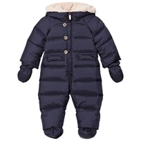 Il Gufo Navy Down Snowsuit with Detachable Mittens and Booties 491