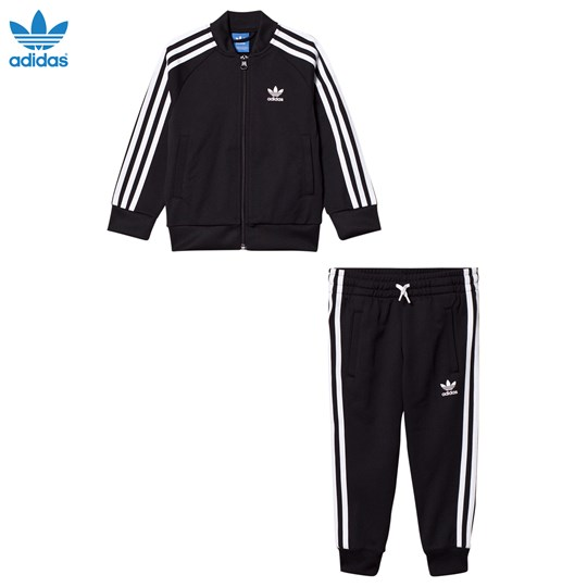 adidas Originals Black Kids Tracksuit Sort