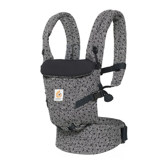 Ergobaby Original Adapt Baby Carrier Keith Haring Black - Special Edition Black