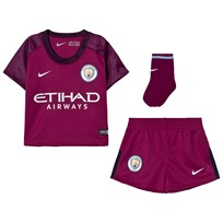 Manchester City FC Manchester City FC Infant Away Kit TRUE BERRY/WHITE
