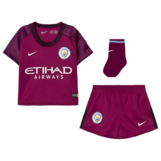 Manchester City FC Manchester City FC Infants Away Kit TRUE BERRY/WHITE