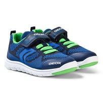 Geox Navy and Blue Xunday Knit Velcro Trainers C4248