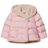 Il Gufo Pink Faux Fur Lined Hooded Coat 313