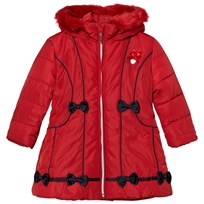 Le Chic Red Faux Fur Hooded Jacket 287