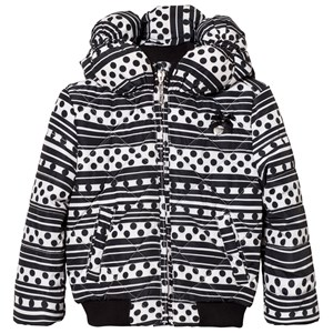 Image of Le Chic Black Stripe and Dots Printed Jacket 104 (3-4 years) (2743778645)
