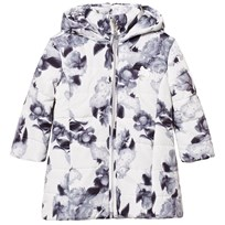 Le Chic Flower Print Long-Line Jacket Off-White 003