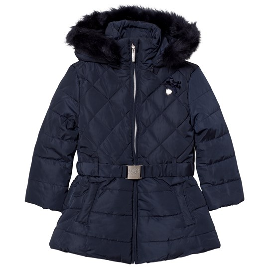 Le Chic Navy Long Jacket with Buckle 190