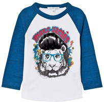 Little Marc Jacobs White/Blue Marc Tiger Print Tee N48