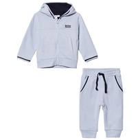 BOSS Pale Blue Branded Tracksuit 771