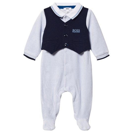BOSS Footed Baby Body Branded Outfit Pale Blue 771