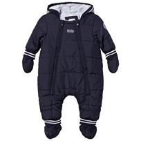 BOSS Navy Padded Snowsuit with Detachable Mittens 849