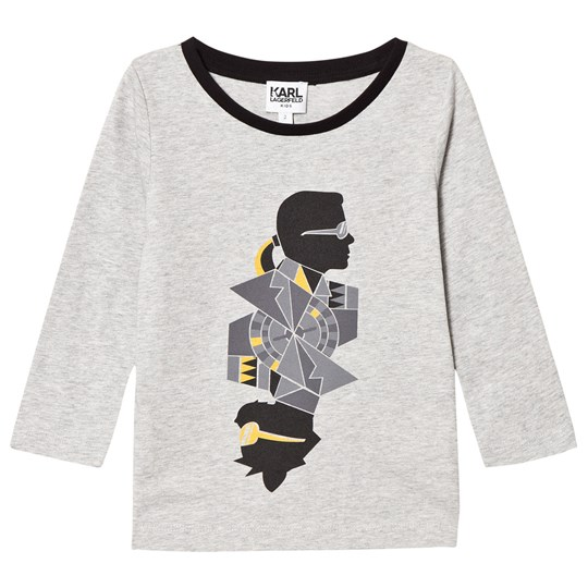 Karl Lagerfeld Kids Grey Karl Bad Cat Print Tee A34