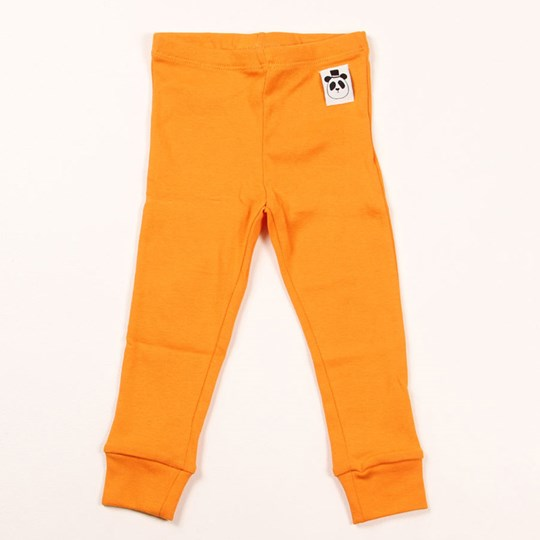 Mini Rodini Basic Leggings Orange Oransje