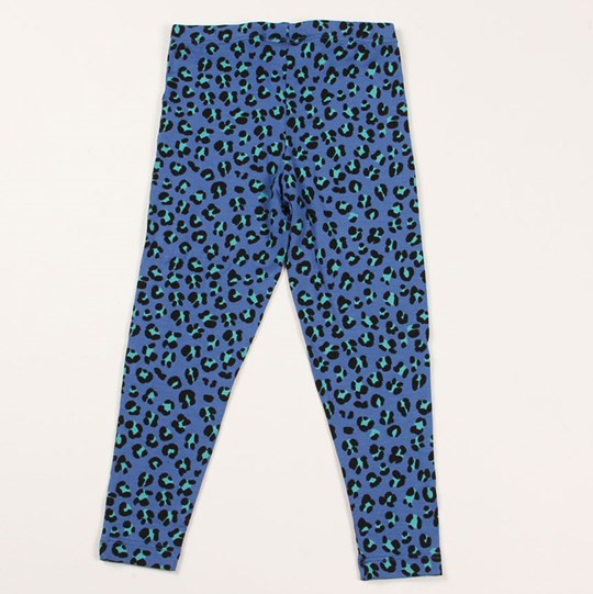 Mini Rodini Jaguar AOP Tights Blue  Blue