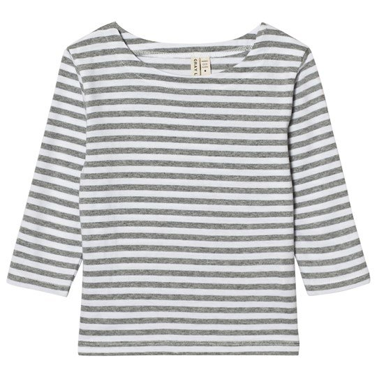 Gray Label Long Sleeve Striped Tee Grey Melange/White Stripes Grey Melange/White Stripe
