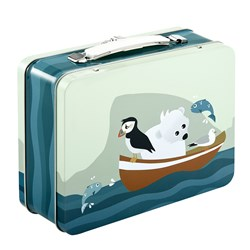 Blafre Tin Suitcase Puffin