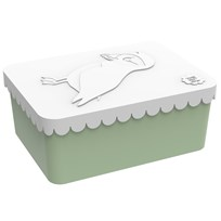 Blafre Lunch box Puffin, 1 compartment, White/green White/green