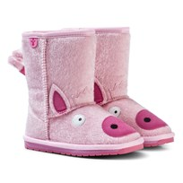 Emu Australia Pale Pink Piggy Boots with Merino Lining Pale Pink