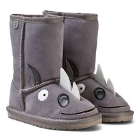 Emu Australia Grey Suede Leather Rhino Boots with Merino Lining Putty