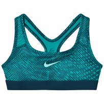 NIKE Girls Green Nike Classic AOP Bra TURBO GREEN/TURBO GREEN/LIGHT AQUA