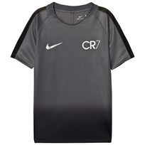 NIKE Black CR7 Dry Squad Short Sleeve Top DARK GREY/LASER ORANGE/METALLIC SILVER