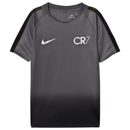 NIKE Dark Grey Black Unisex CR7 Dry Squad Soccer Tee DARK GREY/LASER ORANGE/METALLIC SILVER